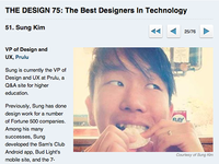 Top 75 Designers in Tech by Business Insider