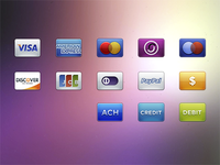 High-Resolution Card/Payment Icons