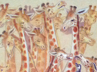 16 Giraffes and a Penguin