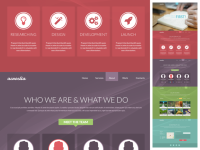 Download Acrostia – free one page PSD