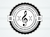 Music Department badge