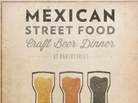 Mexican Street Food Beer Dinner