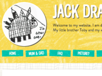 Jack Draws Anything - peephole, banner, tagline & nav