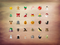 Christmas & Halloween icon pack