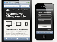 Eleven Eleven Creative Mobile Site - Home