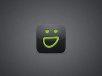 SmugMug iOS Icon - reflection test