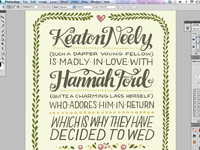 K&H Wedding Invite screenshot