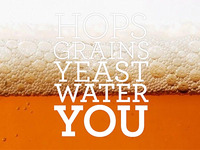 Hops Grains Yeast Water You