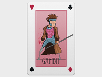 Gambit Pixel Playing Card