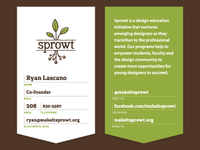 Sprowt Business Cards