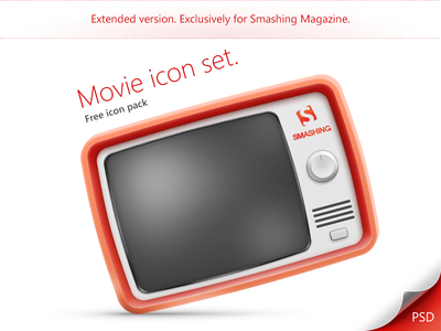 Movie icon set. Extended version.
