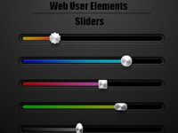 Web Interface Sliders