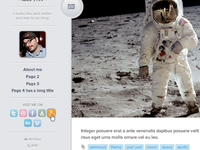Astronaut Tumblr Theme