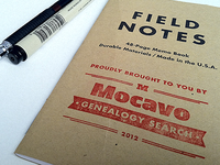 Mocavo (kind of branded) Field Notes