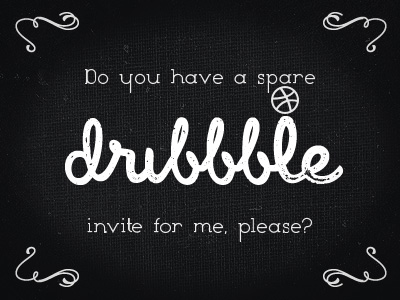 Dribbble-invite-request
