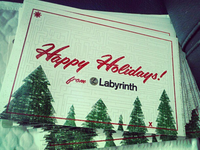 Labyrinth Happy Holidays PostCard!