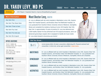 Final layout design doctor's website
