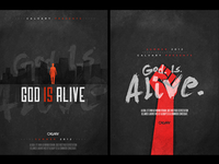 God Is Alive Posters