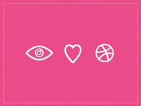 Eye love dribbble!