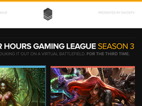 After Hours Gaming League — Landing Page