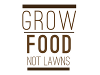Grow Food Not Lawns logo entry