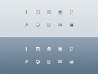 Drops Sidebar Icons