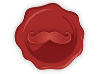 Moustache Wax Stamp