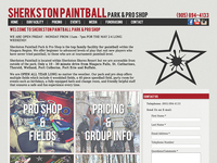 Sherkston Paintball Website