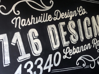 716 Designs Chalk Installation