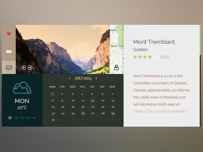 Download Outdoors UI Free PSD