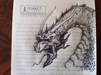 Meeting doodle- Dragon