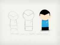 Stylized, simple shape character design
