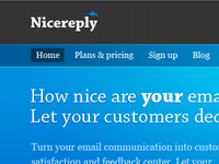 Nicereply Homepage Shot