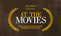 """At The Movies"" invite cards - front"