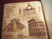 Sketching Wonders of the World