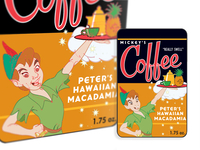 Walt Disney Resorts Peter Pan Coffee Label