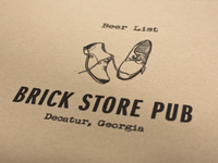 Brick Store Pub Beer List