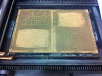 Linoblocks on the Press