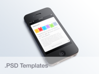 iPhone 4 PSD Templates