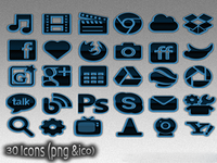 Blue Arise Icons