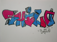 """Shilo"" Graffiti Sketch"