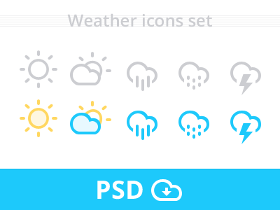 Download Weather Icons Set PSD