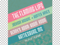 unofficial poster for flaming lips hattiesburg show