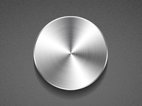 Brushed Steel Button