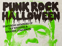 Punk Rock Halloween flyer