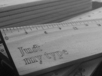 Just My Type - Typography Pica Ruler