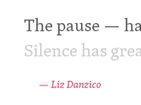 Liz Danzico — The Pause
