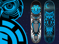 Night Owl Series for Element Skateboards