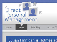 Direct Personal Management - Logo and website detail