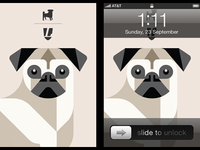 Pug iPhone wallpaper concept